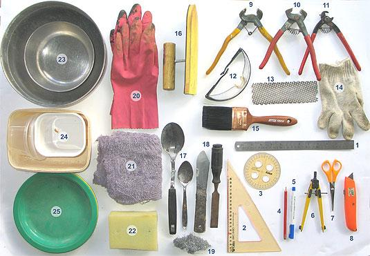 Инструменты для кладки мозаики