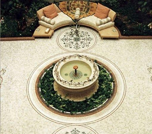 Каменная мозаика фонтанчик