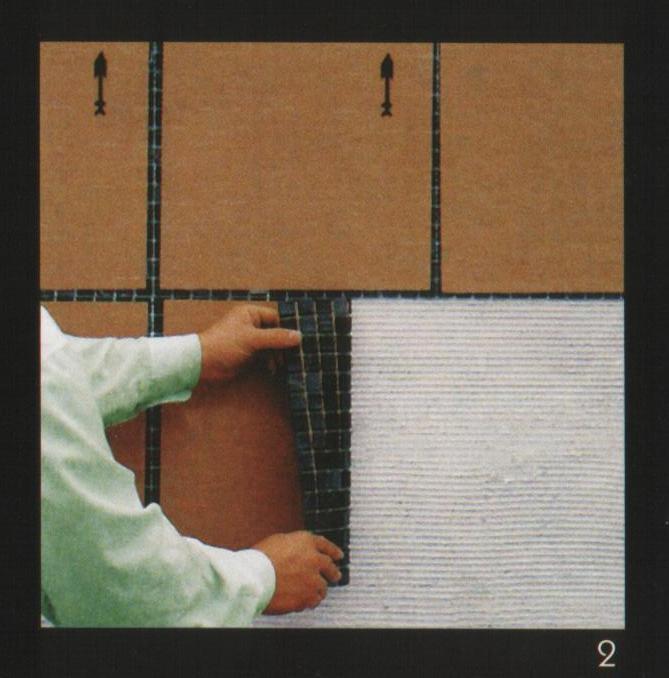 Укладка листа мозаики