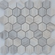 Travertino silver MAT hex