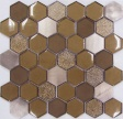 Hexagon Brown Metal
