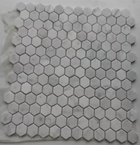 Hexagon Bianco Carrara