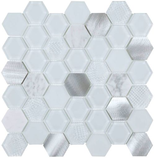 Hexagon White Metal