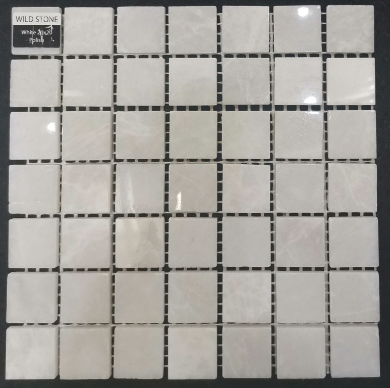 White Polished 20x20