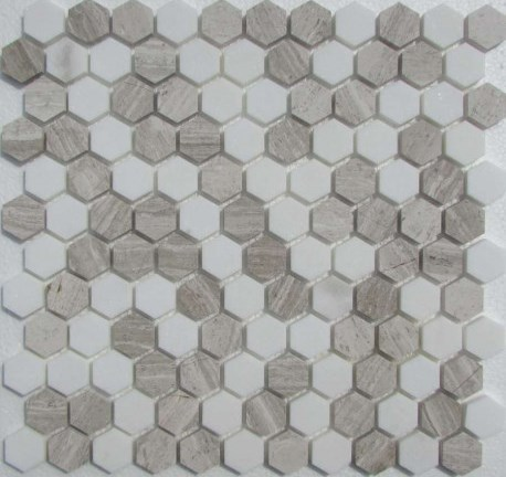 Hexagon White-Grey