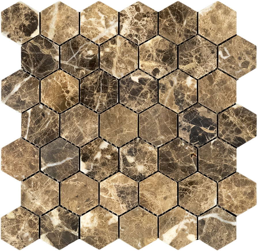Hexagon Emperador Dark